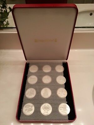 Silver Zodiac signs Full set 12 coins/ medallions