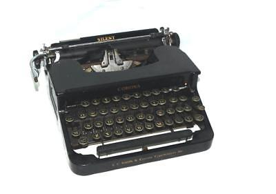 Antique 1935 L.C. Smith & Corona Silent Black Typewriter