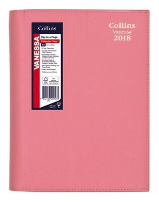 2018 Collins Vanessa Diary Diaries A5 Day To Page - Pink