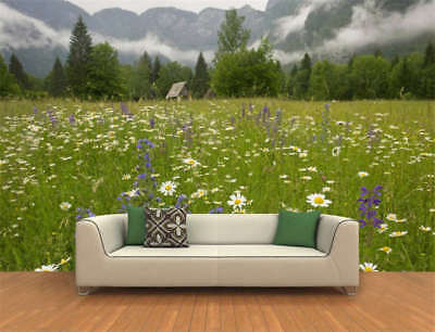 Green Spring Meadow Full Wall Mural Photo Wallpaper Printing 3D Decor Kids Home