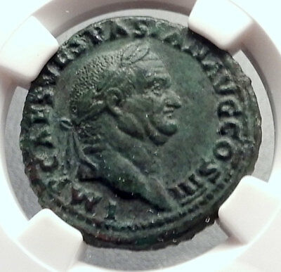 VESPASIAN 71AD Rome Authentic Genuine Original Ancient Roman Coin NGC i64275