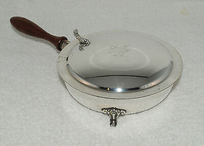Vintage silverplate cigarette butler S F co marking #61