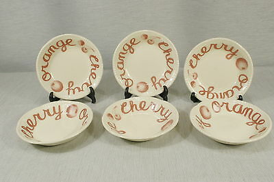 """LOT of 6 Wood & Sons Country CRANBERRY 5"""" Fruit, Dessert Bowls, Nappies  EXC + !"""