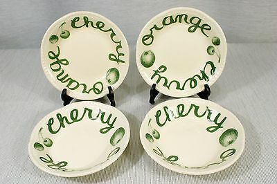 """LOT of 4 Wood & Sons Country Green 5"""" Fruit, Dessert Bowls, Nappies  EXC + !"""