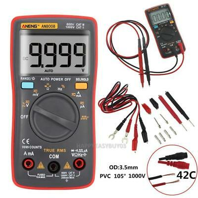 AN8008 True-RMS Digital Multimeter 9999 Counts Square Wave Voltage Ammeter BT