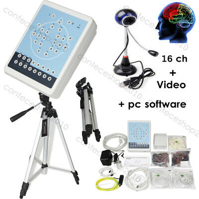 KT88 Digital Brain Electric Activity Mapping 16 channel eeg+pc software+video,CE
