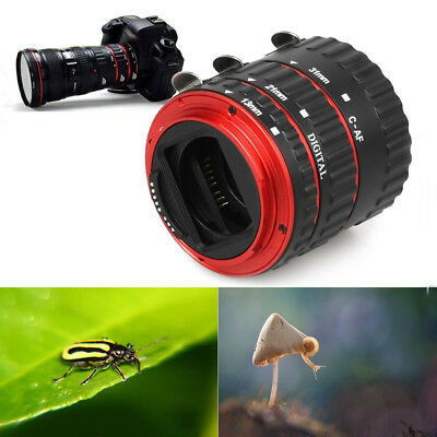 US Metal Mount Auto Focus AF Macro Extension Tube for Canon EOS EF-S Lens 100D