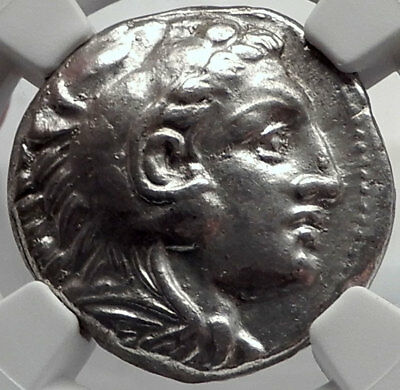 ALEXANDER III the GREAT 336BC Tetradrachm Silver Ancient Greek Coin NGC i64280