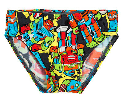 WaveRat Baby/Toddler Boys' Roger Robot Print Brief - Multi