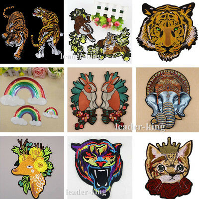 Embroidery Sew Iron On Patch Badge Jeans Clothes Applique Bag Fabric DIY Gifts