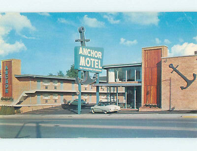 Unused Pre-1980 OLD CARS & ANCHOR MOTEL Nashville Tennessee TN M0512-12