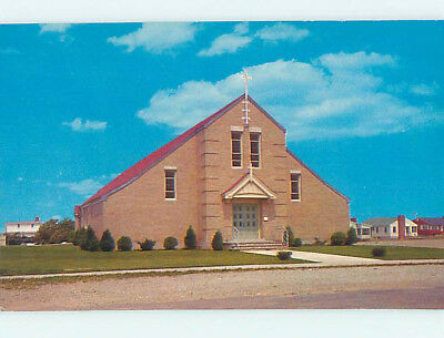 Unused Pre-1980 CHURCH SCENE Seabrook Beach New Hampshire NH L3667