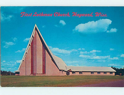 Pre-1980 CHURCH SCENE Hayward Wisconsin WI L5270