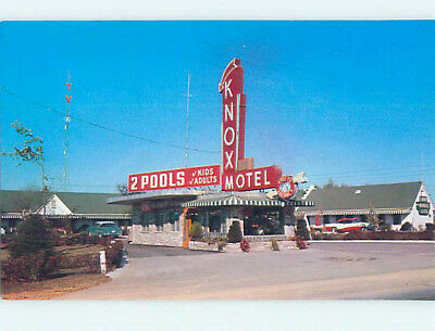 Unused Pre-1980 OLD CARS & KNOX MOTEL Knoxville Tennessee TN M0363