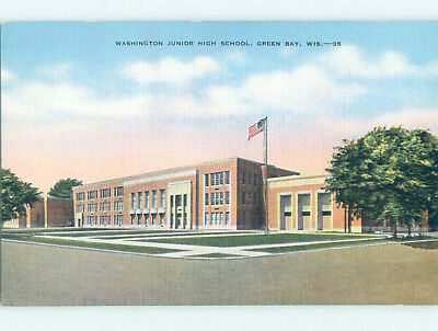Unused Linen HIGH SCHOOL Green Day Wisconsin WI L9894