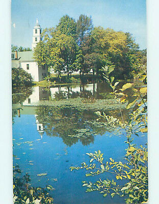 Pre-1980 CHURCH SCENE Milford New Hampshire NH L5495