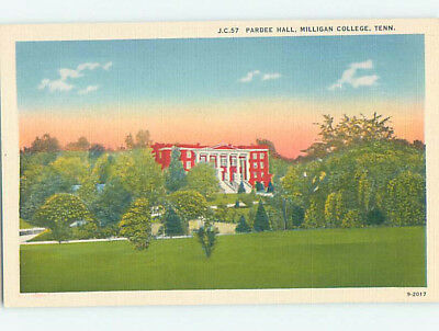 Unused Linen HALL AT MILLIGAN COLLEGE Johnson City Tennessee TN L9330