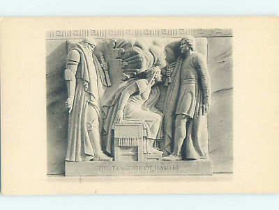 Unused Pre-Chrome RELIEF AT FOLGER SHAKESPEARE LIBRARY Washington DC L9558