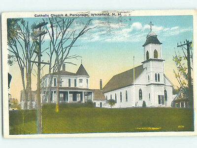 Damaged W-Border CHURCH SCENE Whitefield New Hampshire NH L5887