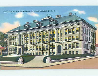 Unused Linen HIGH SCHOOL Manchester New Hampshire NH L9893