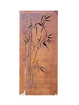 Decorative Metal Garden Screen Wall Art - Bamboo Rust 190Cm X 90Cm X 3Cm