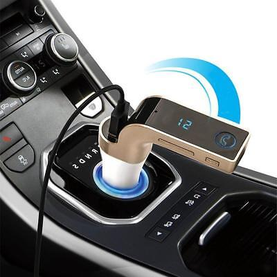 Bluetooth Stereo Car Kit Handsfree FM Transmitter Lettore MP3 USB AUX Gold