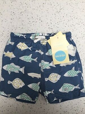 Baby Boden Swimming Board Shorts Size 3-6 Months