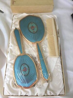 Vtg Dressing Table Set In Box - 3 Piece 'fifth Avenue ' British Made New