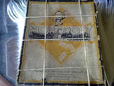 Antique Vintage 1930s Monopoly Box Game Without Board