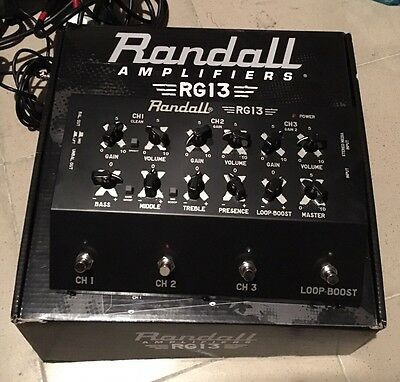 Preamp Amp Pedale Stomp Randall Rg13 Rg 13 Overdrive Distorsore Boost Cabinet
