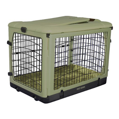 Pet Gear The Other Door Steel Crate with Fleece Pad for Cats and Dogs up to 70-P