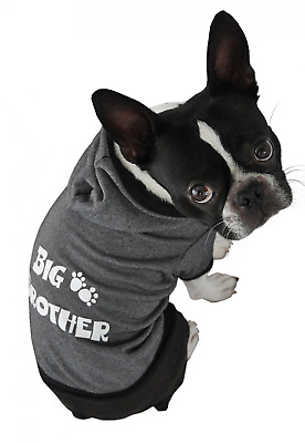 Ruff Ruff and Meow Extra-Large Dog Hoodie, Big Brother, Black