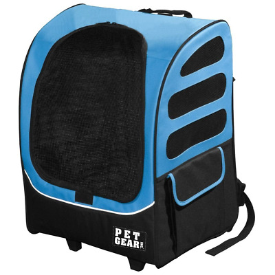 Pet Gear I-Go2 Plus Traveler Rolling Backpack Carrier for Cats and Dogs up to 25