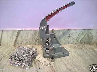 Machine For Fabric Snap Grommets For Shirts With Two Dies Free Button