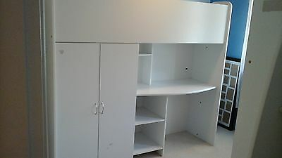 single childrens loft bed heaps of storage desk wide steps,space saver