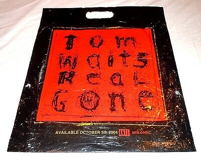 TOM WAITS~Real Gone~Promo Plastic Bag~Record Store~2004~Excellent Condition