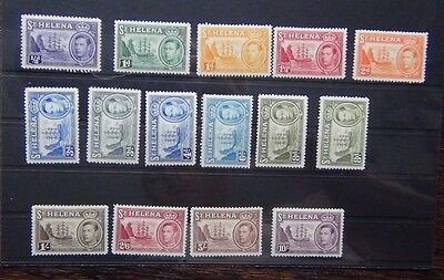St Helena 1938 - 44 set complete to 10s MM