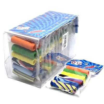 Soft Foam Pen or Pencil Grips - Assorted Colours (Pack of 6)