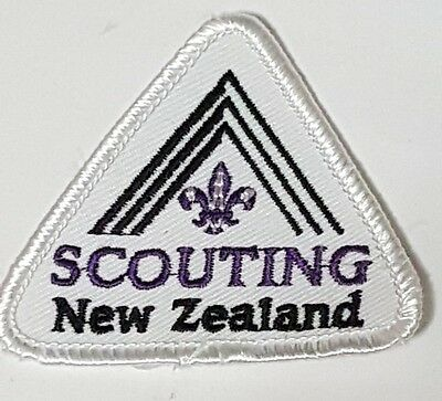 Boys Scouts New Zealand Patch Purple and white