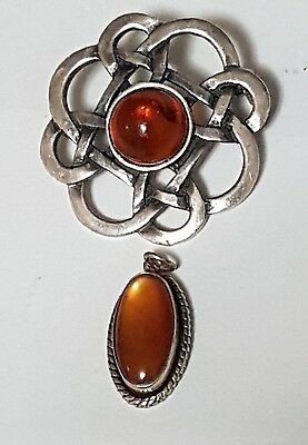 Vintage Sterling Silver Brooch & Pendant - 925 Silver - Check it out