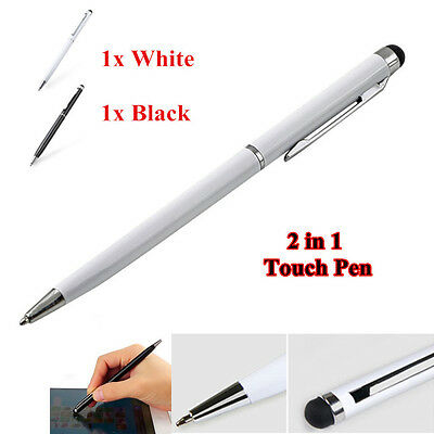 2x Stylus Touchpen Eingabestift Kugelschreiber Ball Pen Smartphone Tablet iPhone