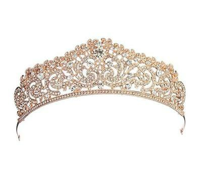 Wiipu Luxury  Gold Hair Rhinestone Crystal Wedding Bridal Tiara Crown(A1060)