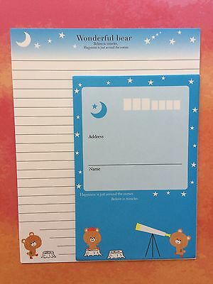 Cute Bear Letter Writing Set/ Note paper & Envelopes