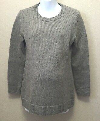 Gap Maternity M Sweater Gray Shimmer Crewneck Nwt