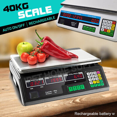 40KG Kitchen Scale LCD Digital Electronic Weight Scales Food Meat Counting