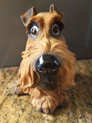 Airedale Terrier Coin Dog Bank.