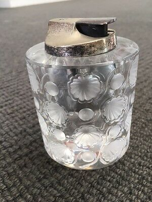 Lalique Cigarette Lighter & Matching Ashtray