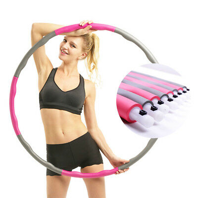 Uk Quality Hula Hoop Professional Weighted Fitness Exercise Massager Workout Abs