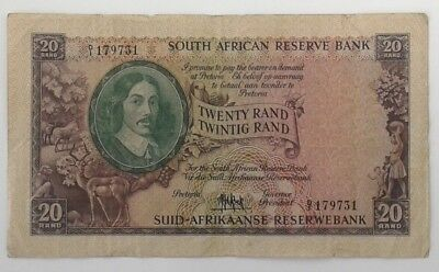 South Africa 20 Rand 1961 Signed M H De Kock Very Fine Condition Condition #CIJ