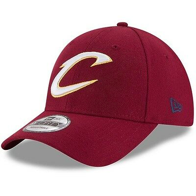 Cleveland Cavaliers New Era 9Forty Official Team Colour Adjustable Cap, Wine